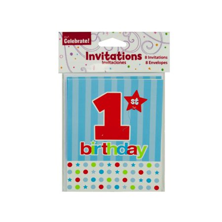 Bulk Buys PA279 72 1St Birthday Invites