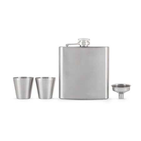 Glassware Flask - Fiasco Flask And Shot Glass Gift Set by True