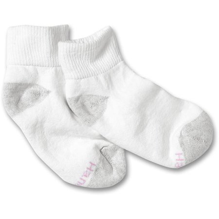 Hanes Red Label Womens 10+2 Bonus Pack Ankle Cushion Athletic Socks - White 5-9