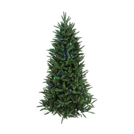 7 5 Pre Lit Mixed Pine Multi Function Artificial Christmas Tree W Remote Control Clear Multi