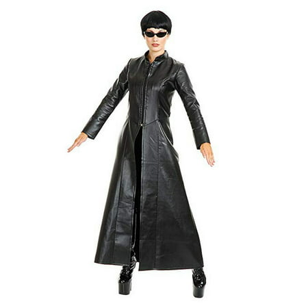 Halloween Cypher Enigma Coat Adult - Trinity From Matrix Costume