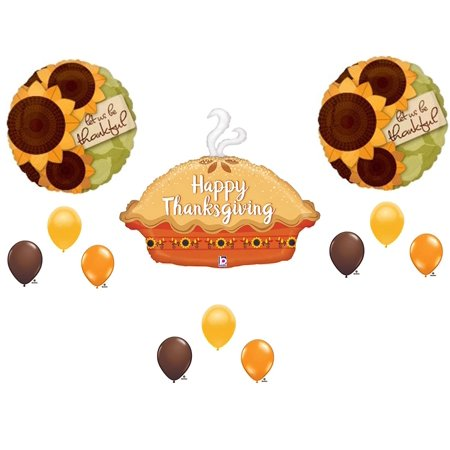 12 pc. THANKSGIVING PUMPKIN PIE DINNER BANQUET Balloons Decoration Supplies - Pumpkin Balloons