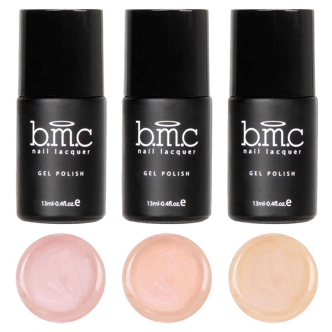 BMC Cream Finished Nude Colored Gel Lacquer Polishes - Au Naturel Collection