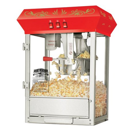 Great Northern Popcorn Red Countertop Foundation Popcorn Popper Machine, 8 Ounce