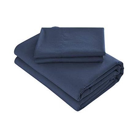 Prime Bedding Bed Sheets - 4 Piece California King Sheets, Deep Pocket Fitted Sheet, Flat Sheet, Pillow Cases - Navy - image 1 de 1