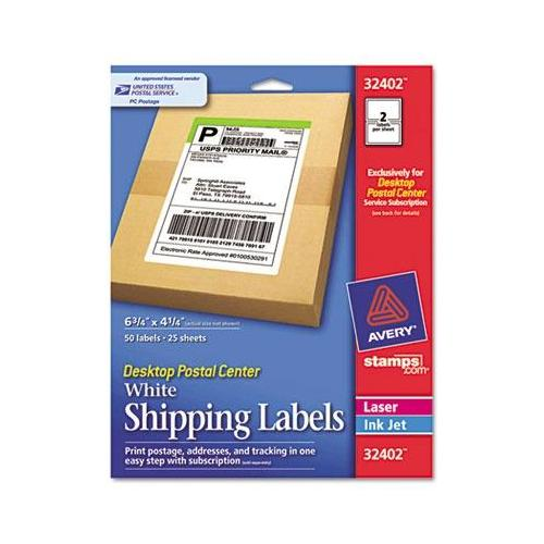 Avery Desktop Postal Center Shipping Labels