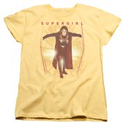 Supergirl Through The Door Womens Short Sleeve Shirt