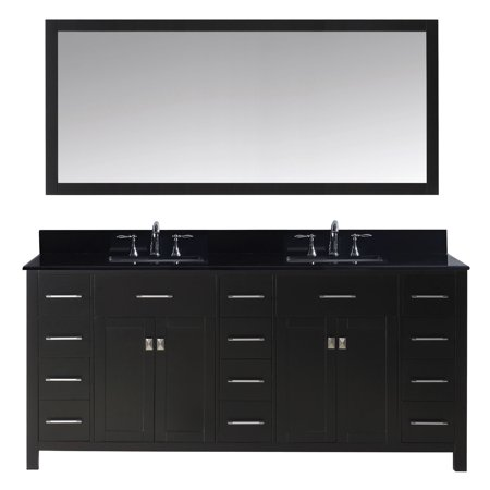 Virtu Md 2172 Bgsq Es 002 Caroline Parkway 72 Inch Double Bathroom Vanity Set In Espresso