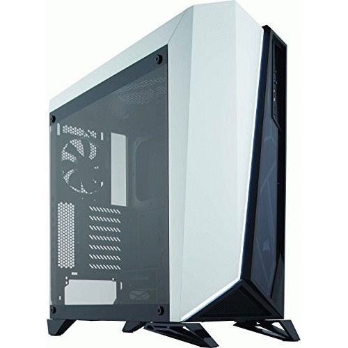 Corsair Carbide Spec-Omega Computer Case - Mid-tower - White, Black - Tempered Glass - 2 x Fan(s) Installed - 0 - ATX, Micro ATX, Mini ITX Motherboard Supported - 5 x Fan(s) Supported - 0 x External 5