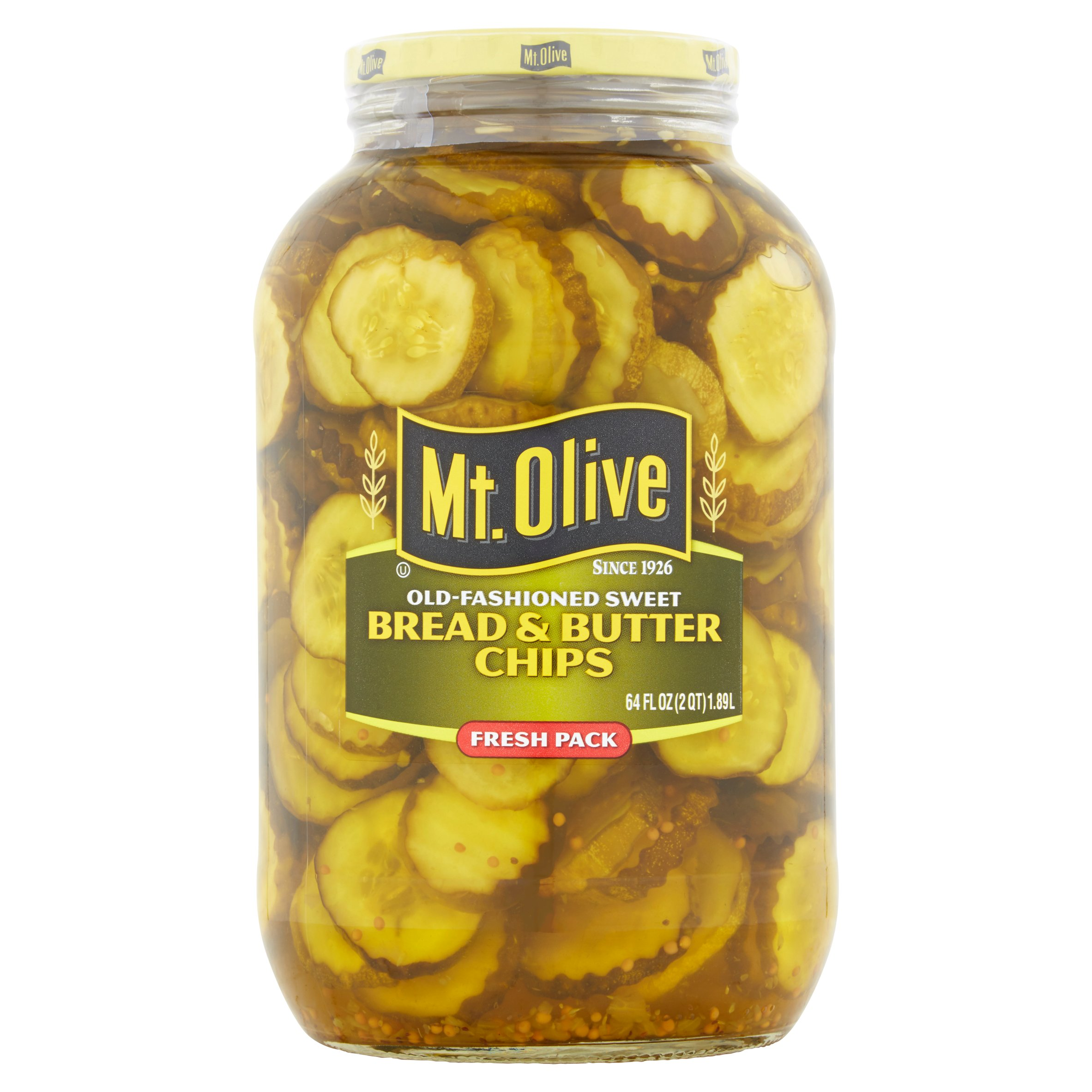 Mt. Olive Bread & Butter Old Fashioned Sweet Pickles, 2 qt by Mt. Olive Pickle Company, Inc.