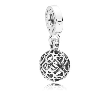 Pandora Harmonius Hearts Hearts silver dangle Charm