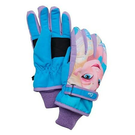 Disney Frozen Elsa Ski Gloves Purple Blue Girls One