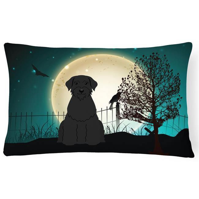 Carolines Treasures BB2256PW1216 Halloween Scary Giant Schnauzer Canvas Fabric Decorative Pillow - image 1 of 1