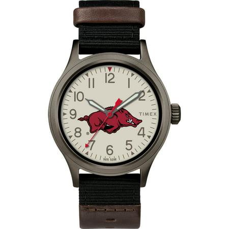 - Timex - NCAA Tribute Collection Clutch Men's Watch, University of Arkansas Razorbacks