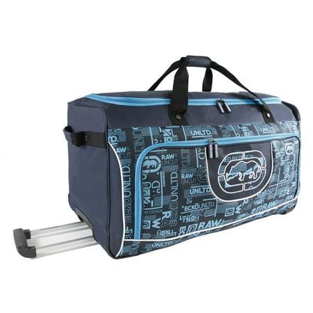 Ecko Unltd. Ecko Unlimited Alpha Blue 32-inch Large Rolling Duffel