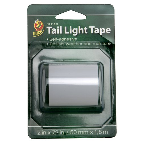"Duck 2"" x 72"" Automotive Tail Light Tape, Clear"