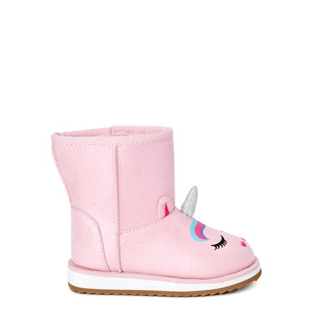 Wonder Nation Toddler Girls Crazy Unicorn Faux Shearling Boots