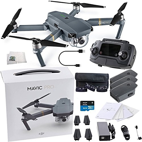 DJI Mavic Pro Collapsible Quadcopter Ultimate Videographer Bundle