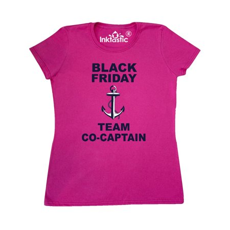 Black Friday Team Co-Captain with Anchor Women's T-Shirt