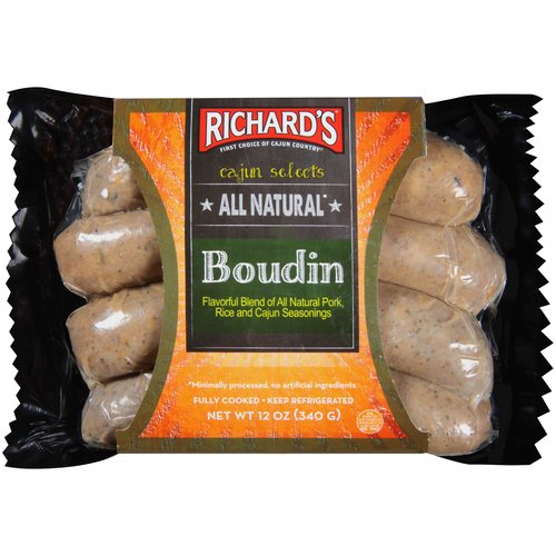 Richard's Cajun Selects All Natural Boudin, 12 oz