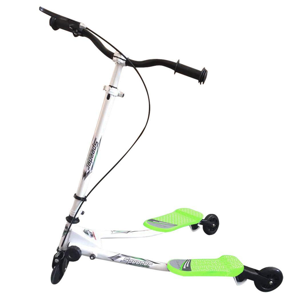 3 Wheel Kids Push Kick Scooter Y Slicker Scooter Swing Tri Slider for Boys & Girls by