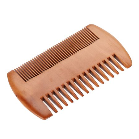 Yosoo Men Beard Mustache Oval Brush + Comb Facial Beard