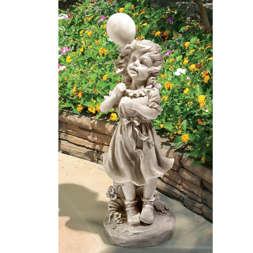 Design Toscano Jessie and Her Balloon Statue by Design Toscano