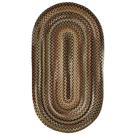 Bangor 0070 Concentric Braided Rectangle Area Rug Sage
