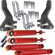 Airbagit X2-SPI-LIFT-FR-0110-15 Lifted Spindle, 4 - Shocks & Blocks Ford Ranger Not Edge 2001 - Up