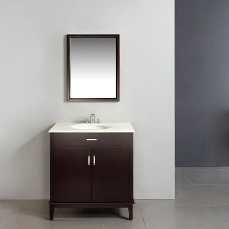 Brooklyn max rockport 30 dark espresso brown bath vanity for Bathroom vanities brooklyn mcdonald avenue