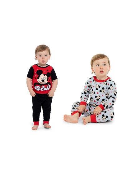 Disney Toddler Boys Mickey Mouse 4-Piece Cotton Pajama Set