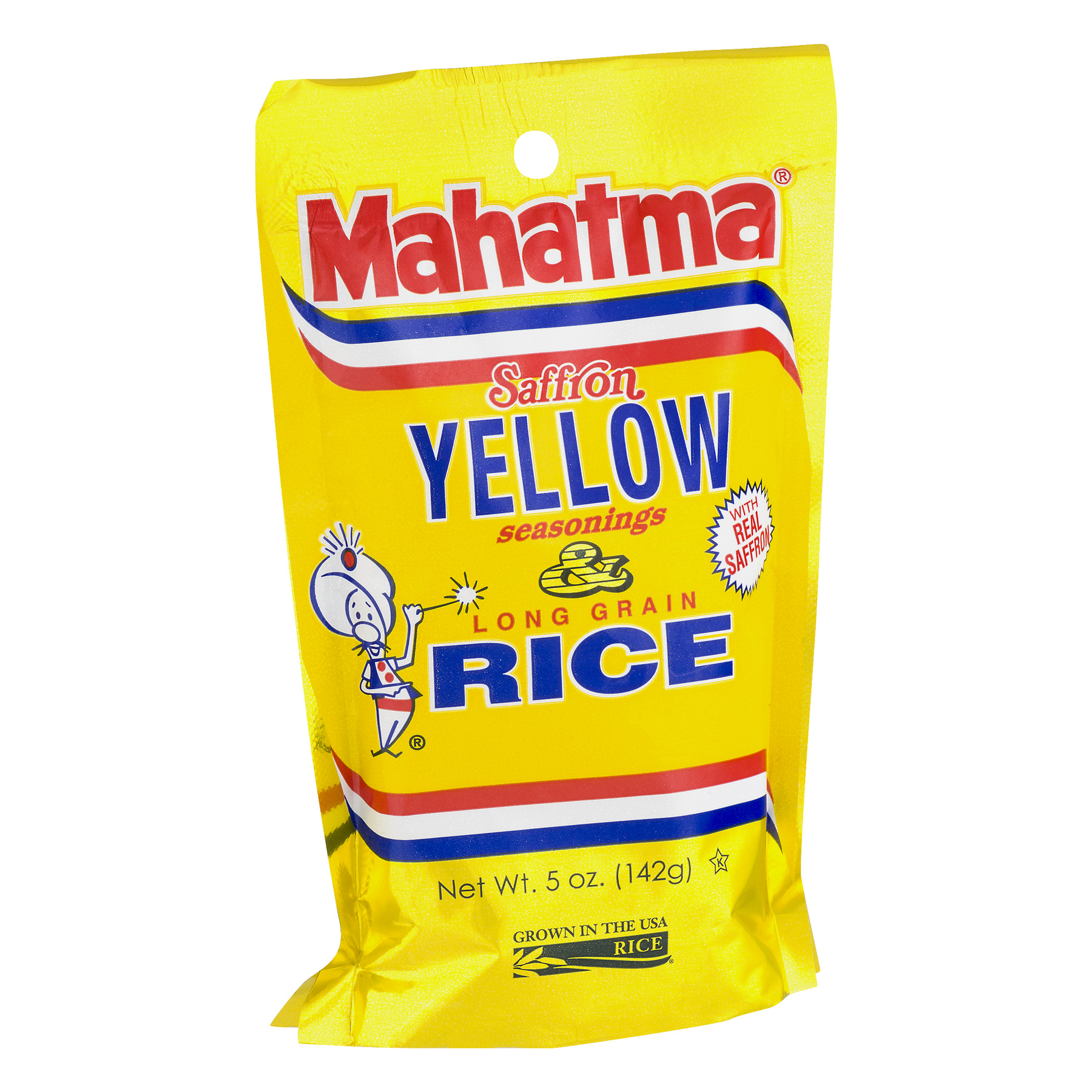 Mahatma Authentic Safron Yellow Seasoned Rice Mix 5 Oz Bag Walmart Com Walmart Com
