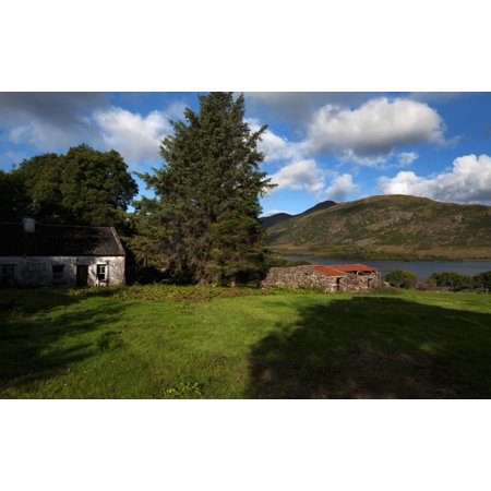 Old Desarted Farm Near Drishaghaun On The Banks Of Lough Mask Joyces County Connemara County Galway Ireland Canvas Art   Panoramic Images  11 X 17