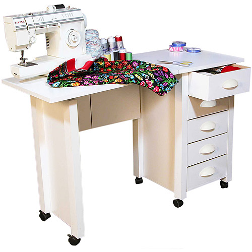 Mobile Desk and Craft Center, White