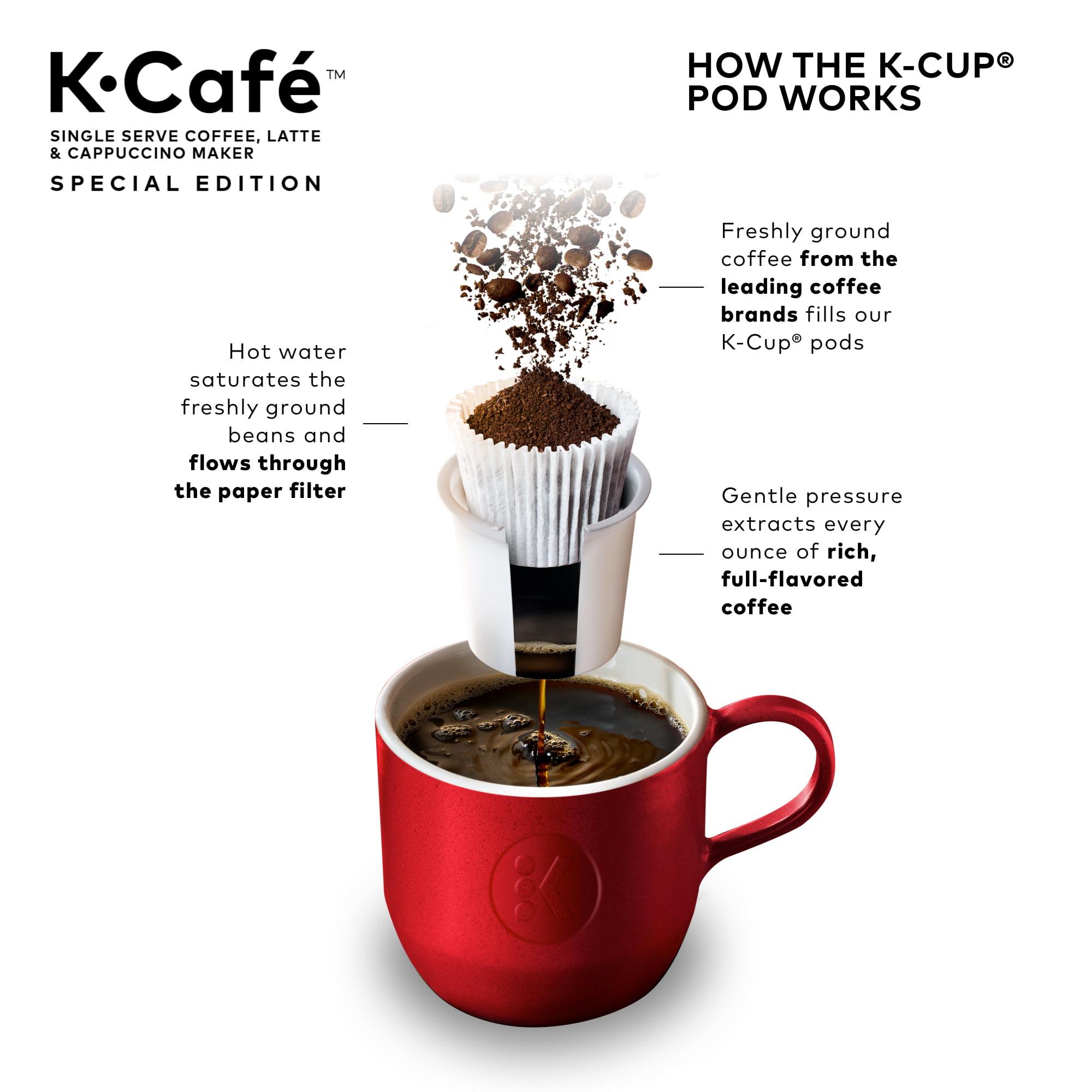 keurig k-café special edition coffee latte & cappuccino maker nickel