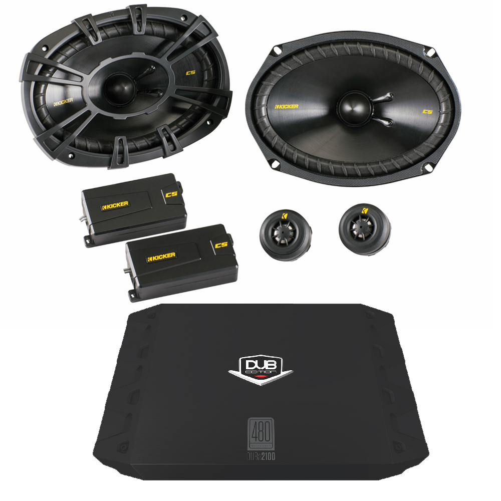 "Kicker 40CSS694 6x9"" Component Set with 200 watt DUB 2 Channel Amplifier"