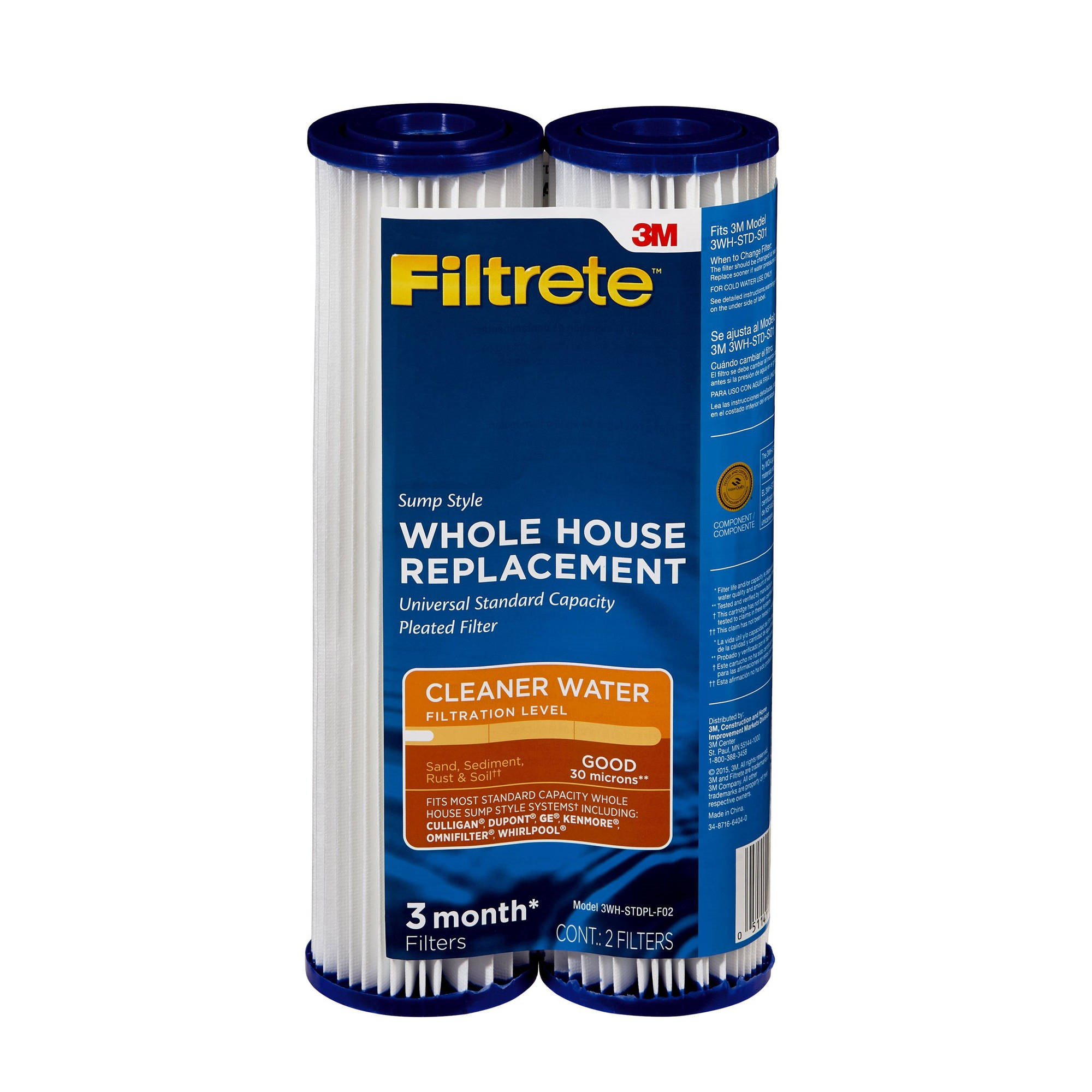 3M Filtrete Pleat-Poly Drop-in Filter, 2pk by 3M