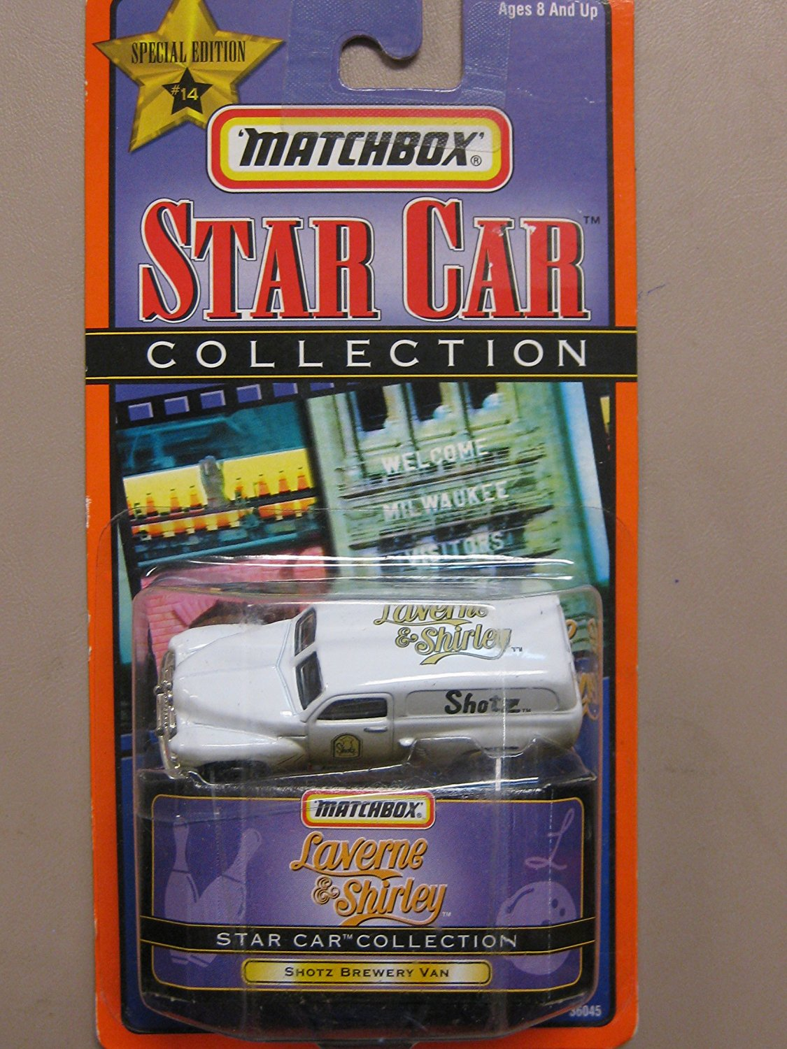 Star Car Laverne & Shirley Shotz Brewery van, 1 64 Scale By Matchbox by
