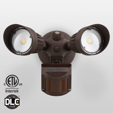 Outdoor Security Lighting Leonlite two head motion activated led outdoor security light photo leonlite two head motion activated led outdoor security light photo sensor 20w workwithnaturefo