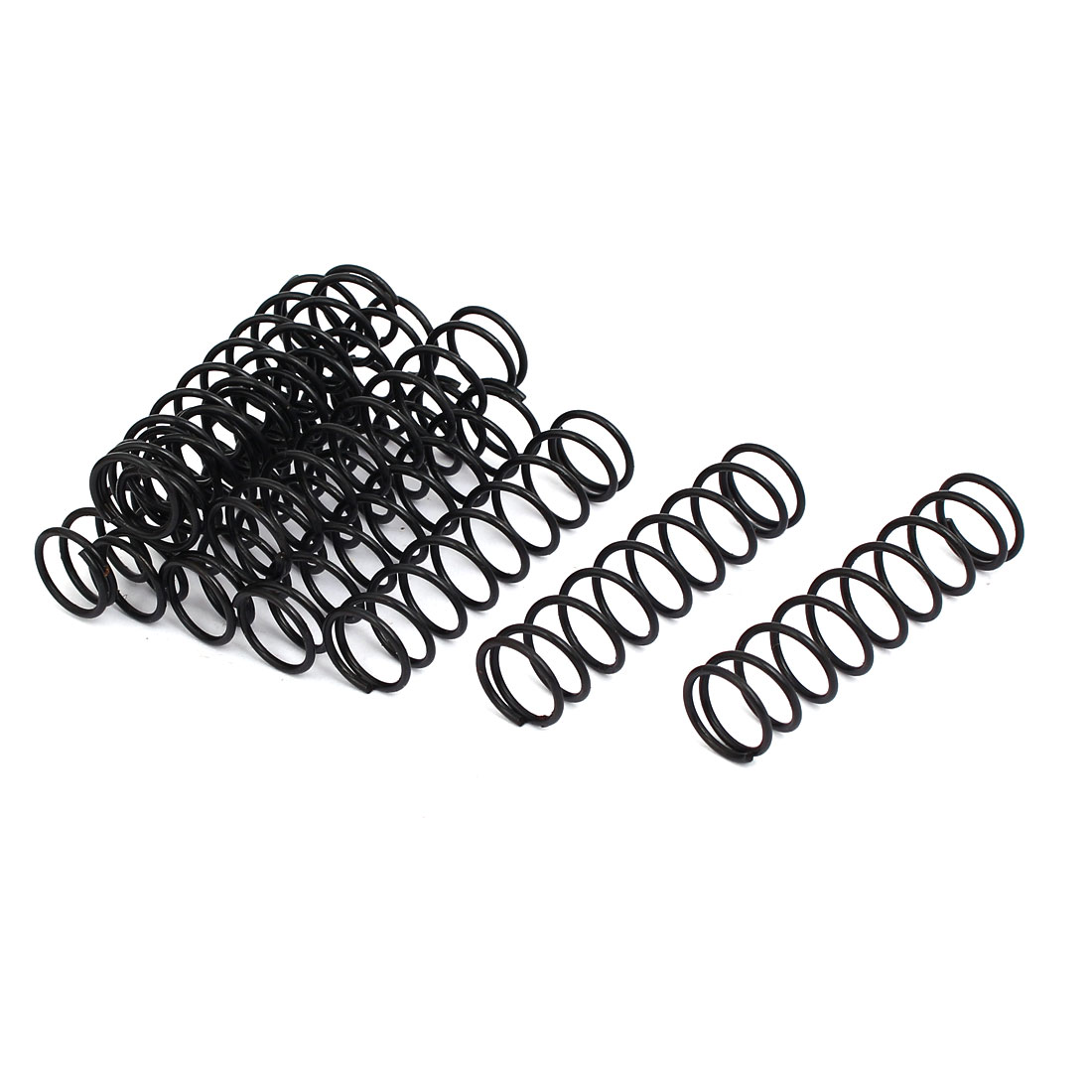 1.2mm Wire Dia 13mm Outer Diameter 50mm Long Compression Springs Black 10pcs