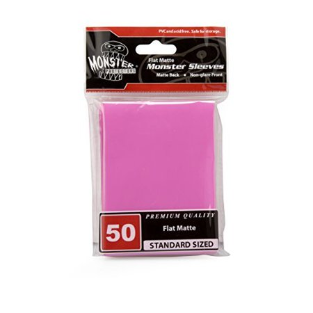 Sleeves - Monster Protector Sleeves - Standard MTG Size Flat Matte - PINK (Fits Magic and Standard Sized Gaming