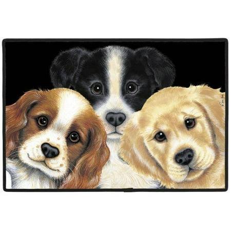 Peeping Puppies Doormat - image 1 of 1