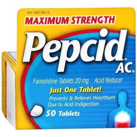 Pepcid AC Acid Reducer Tablets Maximum Strength 50.0 ea(pack of 6)