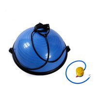 "Ktaxon 23"" Yoga Balance Ball Trainer, Exercise Hemisphere Half Ball with Air Pump,Resistance Bands, for Fitness Stability Practice, Blue"