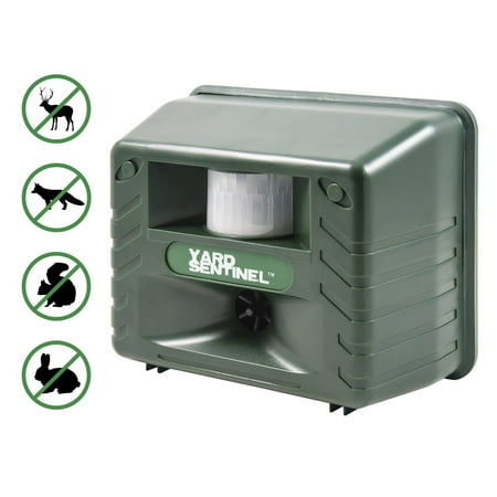Yard Sentinel, Outdoor Electronic Pest Animal Ultrasonic Repeller, with Ac Adaptor, Extension Cord