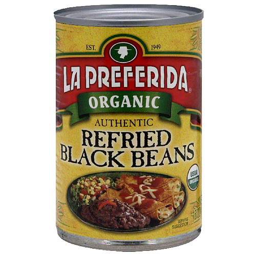 La Preferida Refried Black Beans, 15 oz (Pack of 12)