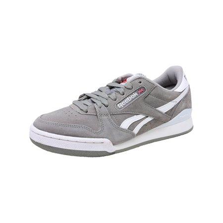 Reebok Men's Phase 1 Pro Mu Tin Grey / White Ankle-High Suede Fashion Sneaker - 5M