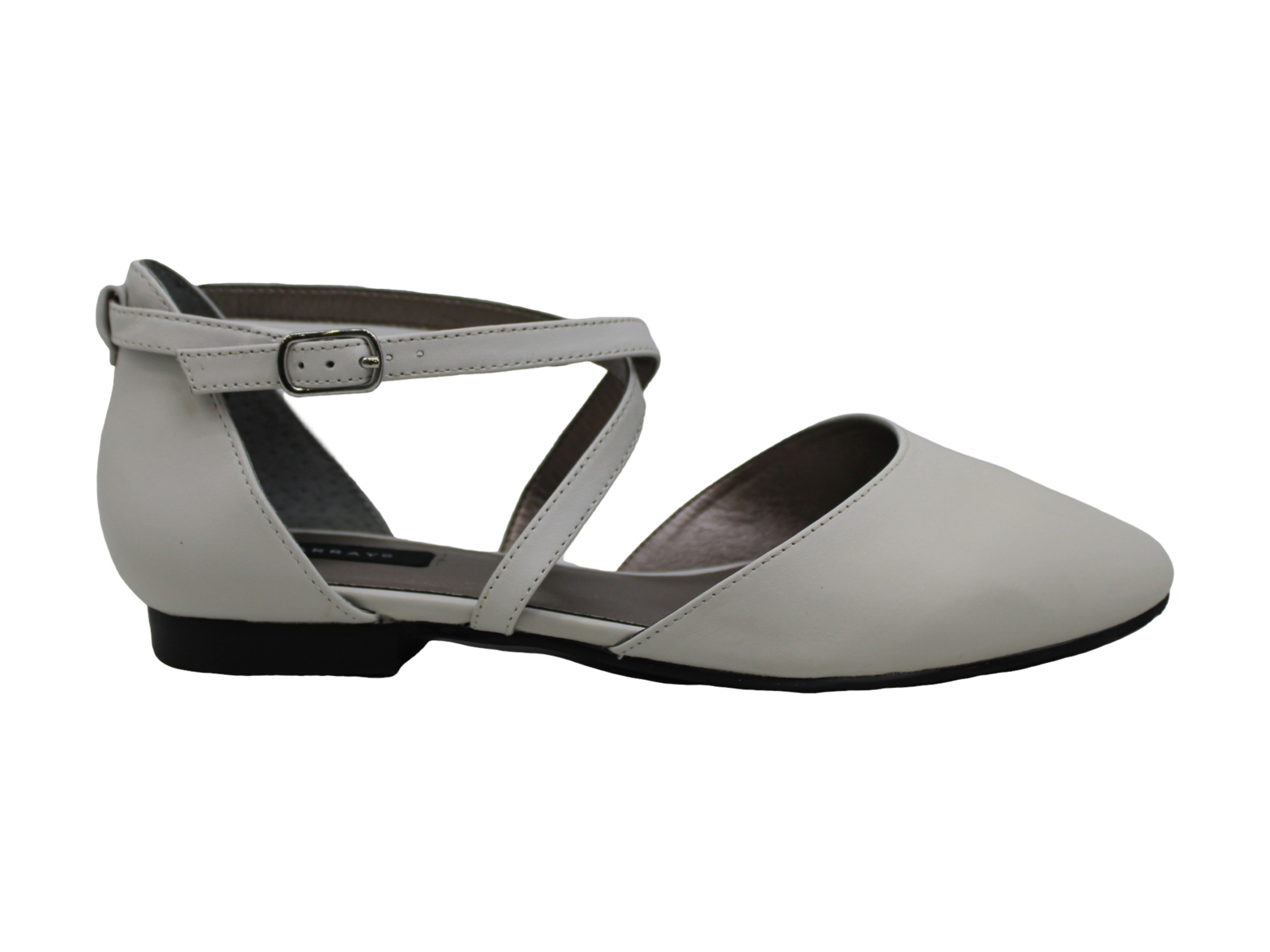 ARRAY Womens carmel Fabric Pointed Toe Casual Ankle Strap Sandals