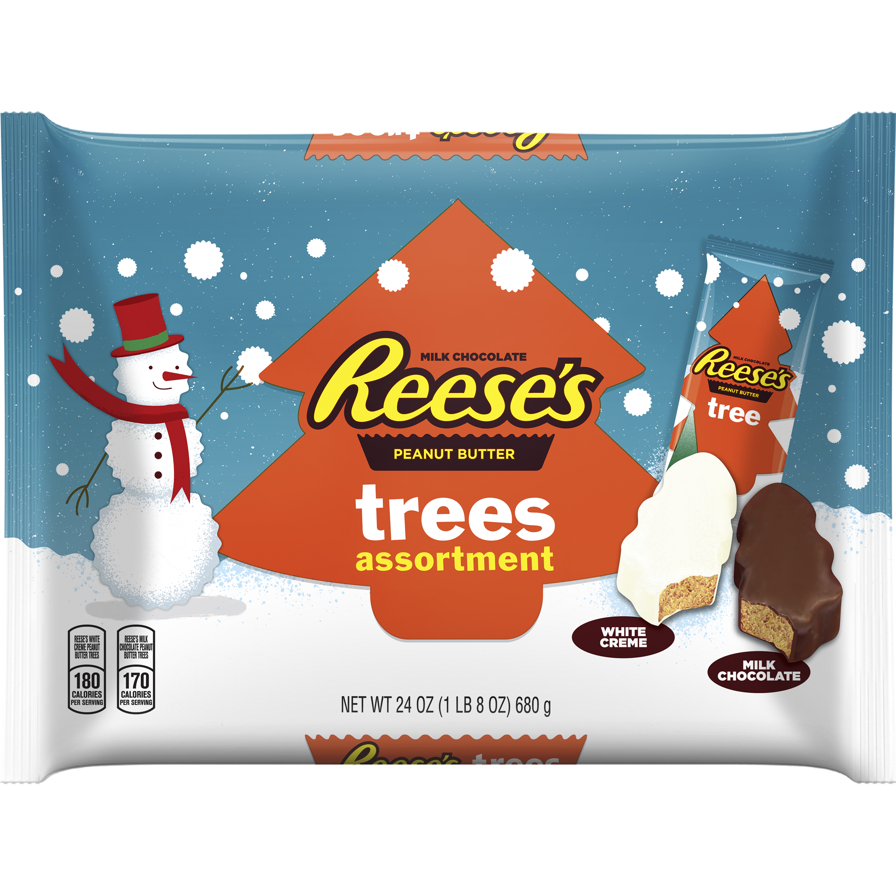 REESE'S Holiday Peanut Butter Trees Assortment, 24 oz