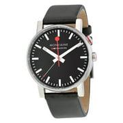 Evo Alarm Black Dial Black Leather Mens Watch A4683035214SBB